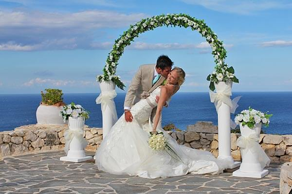 weddings at blue Caves Villas